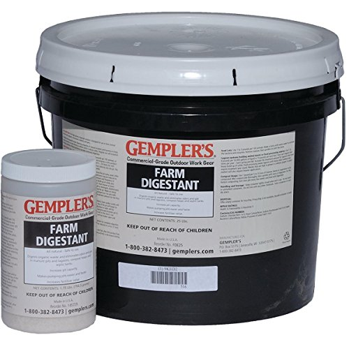 GEMPLER'S Farm Digestant 1.75lbs USDA-Accepted 100% Salmonella-Free for use in Federally-Inspected Meat & Poultry Plants – Reduces Odor & Naturally Liquefies Manure
