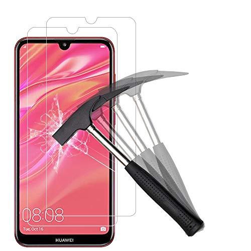 ANEWSIR [2 Stück] Schutzfolie für Huawei Y7 Pro 2019/Huawei Y7 Prime 2019/Huawei Y7 2019, Panzerfolie Bildschirmschutzfolie, Einfache Installation, Anti-Kratzen, Anti Bläschen.
