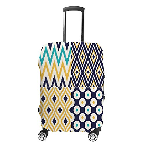 Luggage Cover Travel Anti-Scratch Suitcase Cover Baggage Protector Case Colorful Circle Diamond Fit Washable Accessories Dustproof XL