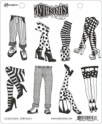 Ranger Legs Eleven Dyan Reaveley's Dylusions Cling Stamp Collections, 8.5 by 7'