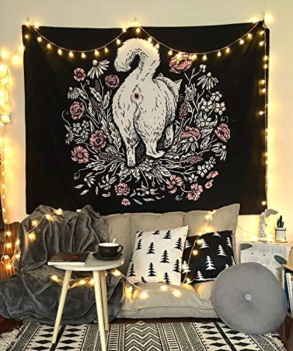WERT Tapiz con Estampado de Mandala Multicolor, Tapiz de Tela de Fondo para decoración de Dormitorio de Pared India A13 180x200cm