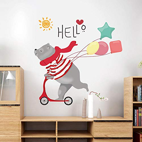 Cooldeer cartoon skateboard beer muursticker verwijderbare pvc muursticker