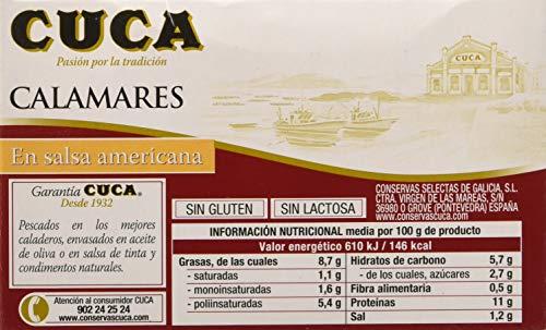 Cuca Calamares en Salsa Americana - 115 gr