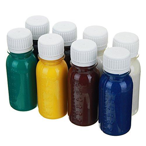 MJJEsports 60ml DIY Lederen Kleurstof Olie Diluent Tools Kit Kleurstof Vloeibaar Pigment Mix Kleuren DIY Ambachten - Koffie