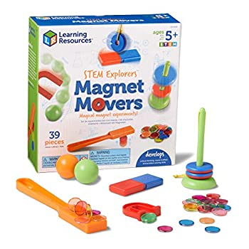 Learning Resources STEM Explorers Homeschool Magnet Movers 39 Pieces STEM Certified Ages 5+