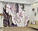 PENVEAT Curtains with Pearls Luxury 3D Window Curtains Living Room Wedding Bedroom Cortinas Drapes Rideaux Customized Size Pillowcase,Color 1,W320cm H270cm
