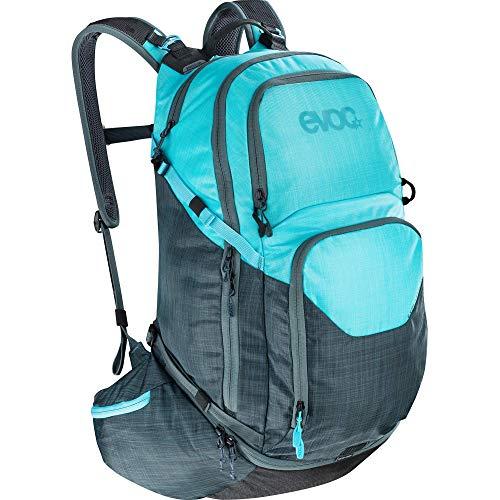 EVOC Explorer Pro Performance Rucksack, Schiefer Grau/Neon Blau, 30 Liter
