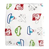 Stephan Baby Snuggle Fleece Crib Blanket, Airplanes, Boats, Cars and Trains