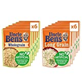 Uncle Ben's Microwave Rice Mixed Selection, Bulk Multipack of 12 - 6 x Long Grain 250 g, 6 x...