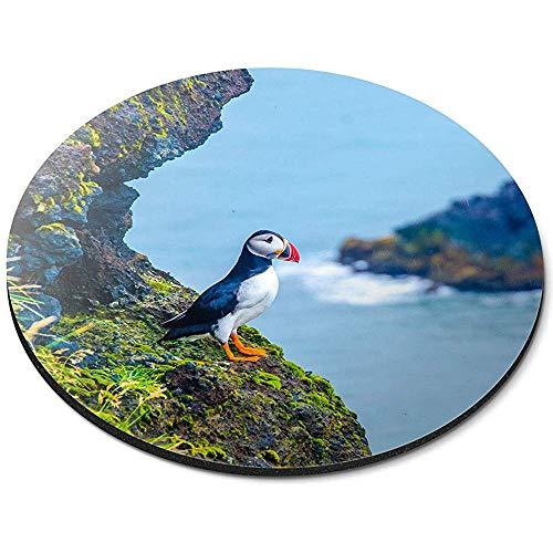 Ronde Muis Mat - Leuke Puffin Vogel Zee Vogels IJsland Wild Office Gift