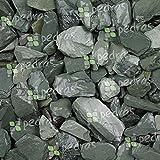 benazzo marmo scaglie di ardesia verde 30/50 sacco da 25 kg sassi pietre arredo giardino vasi