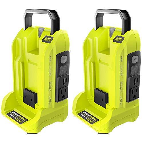 RYOBI Two 300-Watt Powered Inverter for 40-Volt Battery, RYi300BG-CMB1