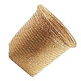 NUOBESTY Papelera tejida de ratán, papelera, papelera, contenedor para baño, cocina, oficina, manualidades (30 x 30 x 30 cm)