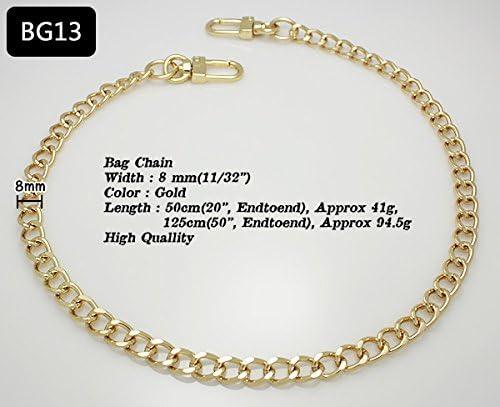 k-craft BG14 50cm Purse Metal Chain Strap Replacement Gold Crossbody Shoulder Strap Handbag