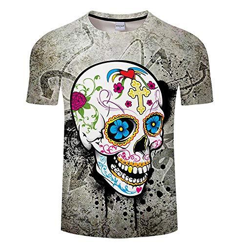 T-Shirt Girly Skull 3D Print T Shirt Hommes Femmes T-Shirt D'été Drôle À Manches Courtes O-Neck Tops & Tee Streetwear Asianl Tx191
