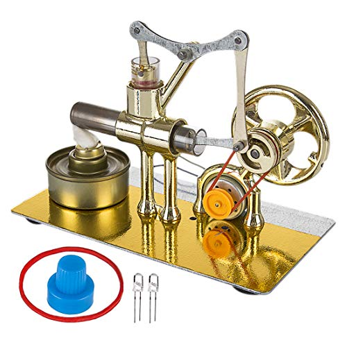 DXX Motor Stirling Kit Baja Temperatura Aire Caliente DIY Eléctrico Generador Motor Stirling Engine Juguete Educativo