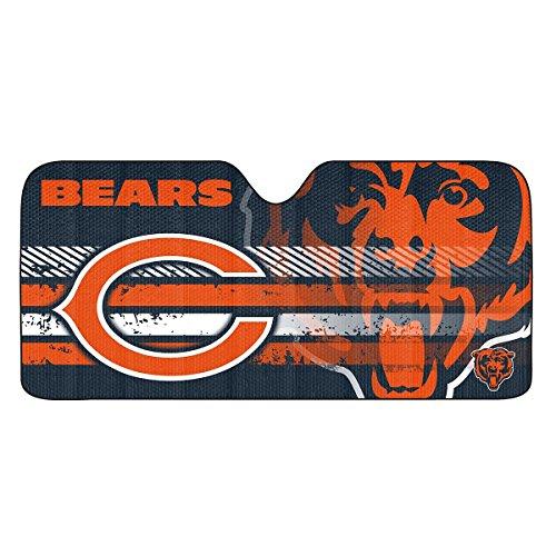 FANMATS NFL - Chicago Bears Car Sun Shade 27.5 in. x 58 in., Orange (60047)