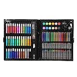 Yudanny Bolígrafo de Acuarela Lápices de Colores Conjunto de Crayones Bandeja de Pintura Pegamento Esponja Grapadora Profesionales Herramienta de Papelería de Dibujo para Principiantes