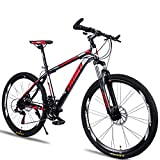 CSZZL lightweight hybrid bike,Adult mountain bike 26 inch 27/30 speed integrated wheel off-road variable...