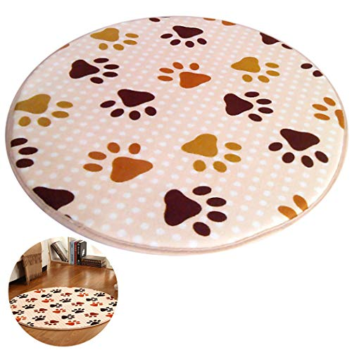 JUSTDOLIFE Badmat ronde voetafdruk antislip deurmat voor thuis
