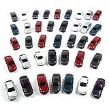 自動車模型・ミニカー・モデルカー・情景コレクション 1/100用 50台セット ランダム カラフル 情景コレクションザ・都市模型・ジオラマ・建築模型