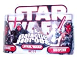 Hasbro 87313 Star Wars Galactic Heroes Darth Maul & Sith Speeder