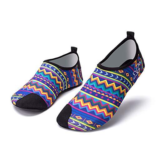 Zapatos de playa para hombre de verano, unisex, antideslizantes, ligeros, para playa, talla 38-39 (adecuado 36-37), color: A