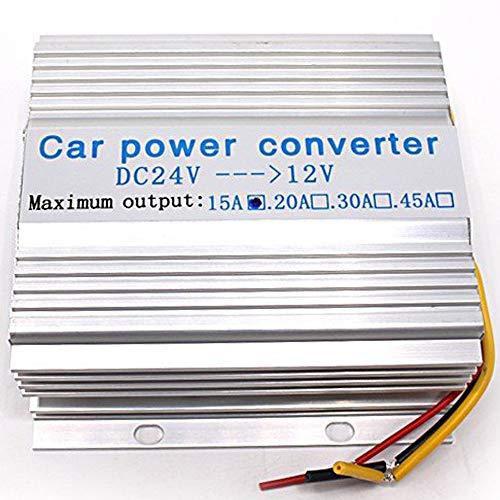 Wellvie DC-DCコンバーター 24V→12V 15A デコデコ 電圧変換器