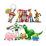 Pantyshka Toy Story Cake Toppers – Pack of 9 Toy Story Figurines – Premium Quality Toy Story Birthday Party Favors Including Woody, Buzz Lightyear, Jessie, Lotso, Bullseye, Rex, Alien, Slinky, Hamm