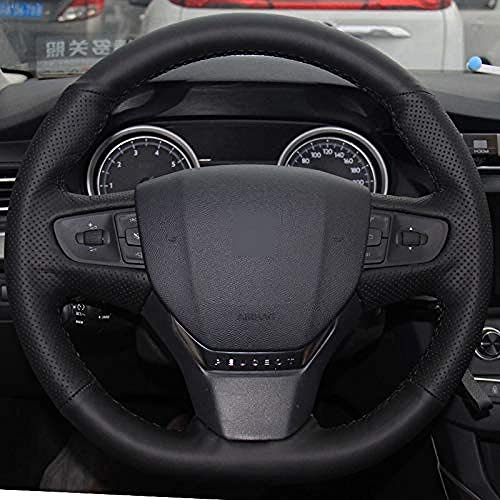 ZYTZK , Cubierta para volante Citroen C3 C3 XR 2015 2019 C4 2016 2019 para Peugeot 408 2014 2019 Traveler 2016 2019 - Rosca naranja