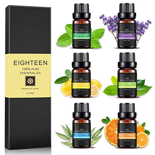 Huiles Essentielles, AIDUCHO 100% Pures et Naturelles Huiles Aromathérapie de Top 6...