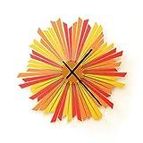 El Sol Poniente - 41 cm / 59 cm reloj de pared de madera hecho a mano en tonos...