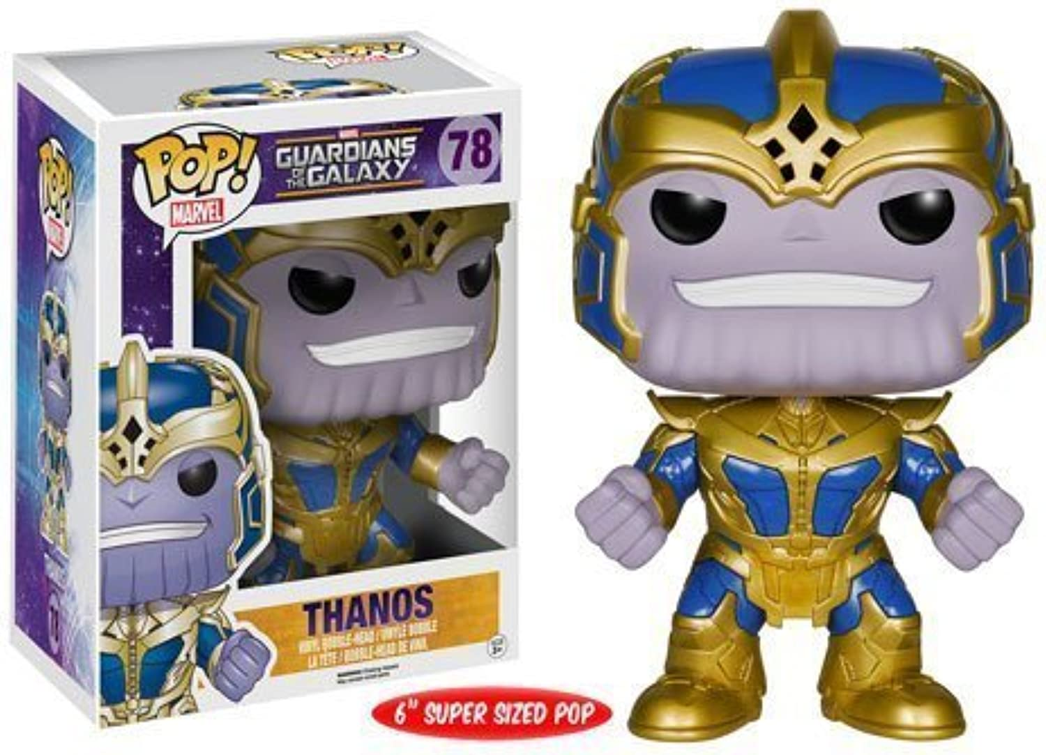 Guardians of the Galaxy Thanos 6-Inch Pop  Vinyl Bobble Head Figure by Funko