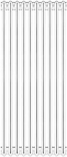 Ercos Radiador Acero Tubular 3 Columnas Desmontable MOD.1800 6 Elementos, Color Blanco