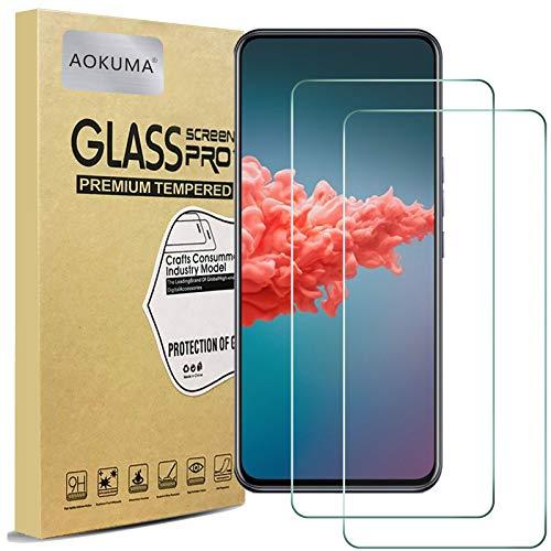 AOKUMA für ZTE Axon 20 Panzerglas, 【2 Stücke】 Glas kompatibel mit ZTE Axon 20 Schutzfolie, Premium Glasfolie mit 9H Härte, Anti Kratzer, Splitterfest,Anti-Öl,Anti-Bläschen