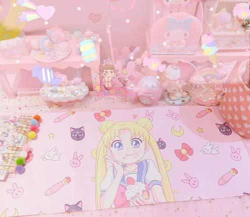 weichuang Lovely Anime Card Captor Sakura Sailor Moon Tapis de souris pour ordinateur portable Motif personnage d