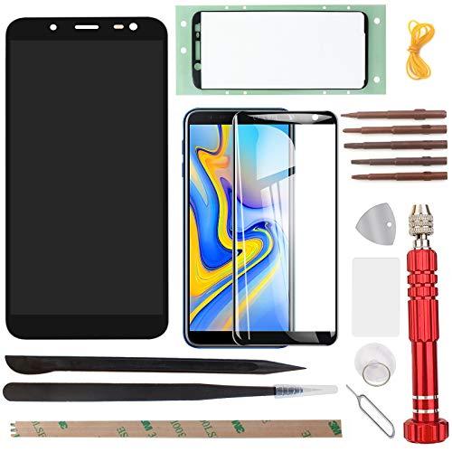 """YHX-OU Für 5.6\"""" Samsung Galaxy J6 2018 J600F J600 LCD Display Touchscreen Ersatz Bildschirm mit Komplett Werkzeug (Schwarz)"""