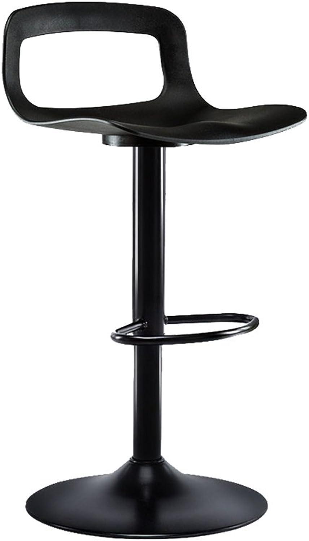 TLMY Bar Stool Modern Minimalist high Stool Bar Stool Home Back Bar Stool Chair (color   Black1, Size   38.5cm)