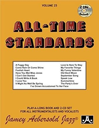 Jamey Aebersold Jazz -- All-Time Standards, Vol 25: Book & 2 CDs [Lingua inglese]