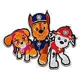 Toppe termoadesive - Paw Patrol Squadra Dei Cuccioli Chase Marshall Skye - colorato - 6,1x7,5cm - © Spin Master Patch Toppa ricamate Applicazioni Ricamata da cucire adesive