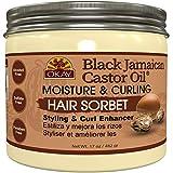Okay Definidor de rizos Black Jamaican Castor Oil Moisture & Curling Hair Sorbert 482 gr.