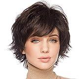 BLONDE UNICORN Short Wigs for Women Natural Human Hair Wig Dark Brown
