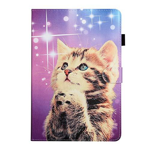 10 inch Tablet Hülle Cover - hülle 10.1 Zoll universal für Samsung Galaxy E 9.6/Tab S2 9.7, ASUS ZenPad 10, Lenovo TB-X103F/Tab 2 A10-70, T5 10/M5 Lite 10 (Wishing cat)