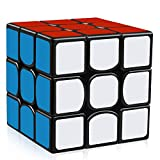 D-FantiX YJ Guanlong Speed Cube 3x3 Smooth Magic Cube Puzzles 56 mm Black