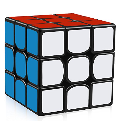 D-FantiX YJ Guanlong Speed Cube 3x3 Smooth Magic Cube Puzzles 56 mm Black