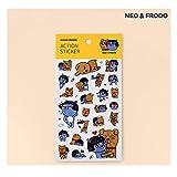KAKAO FRIENDS Action Sticker. Neo. Frodo