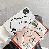 スヌーピー iPhoneケース 携帯カバー 携帯ケース スマホ キャラクター snoopy PEANUTS チャーリーブラウン かわいい 韓国 人気 iPhone7/8 X/Xs XR iPhone11 iPhone11pro iPhone11promax (iPhone11, half face スヌーピー)