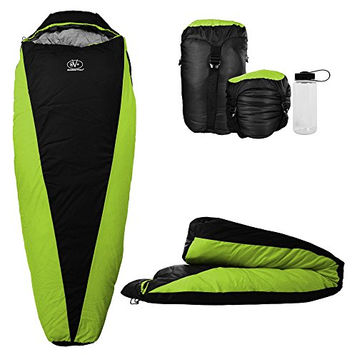 Outdoor Vitals OV-Light 20-35 Degree Backpacking Sleeping Bag, Lightweight and Compact for Hiking and Camping, Ultralight Mummy Bag Design with...