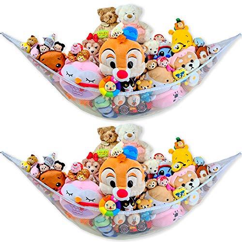 2 Packs - Mia Weaver Stuffed Animals Jumbo Toy Storage Hammock