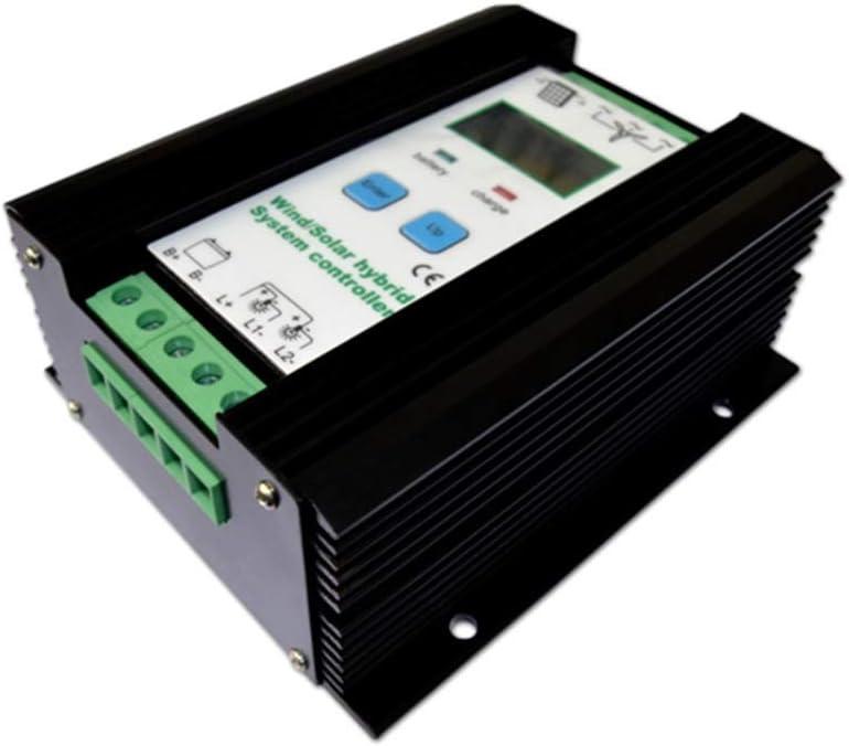 Kit de generador de turbina eólica Regulador híbrido solar del viento 1000W turbina de viento 600W regulador del cargador del panel solar 400W regulador automático de la batería 12V / 24V con la exhib